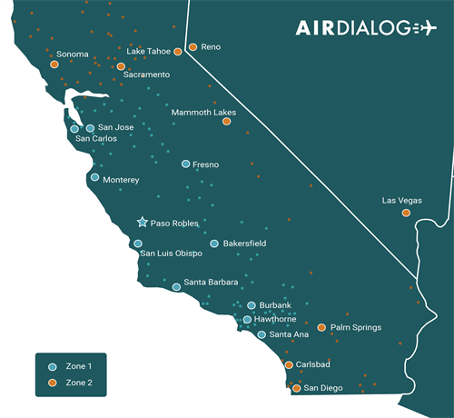 Travel in and out of the closest airports to you