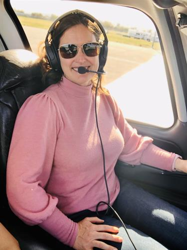 Meet Chief Pilot, Elissa. She's an FAA certificated pilot and has flown all over the world