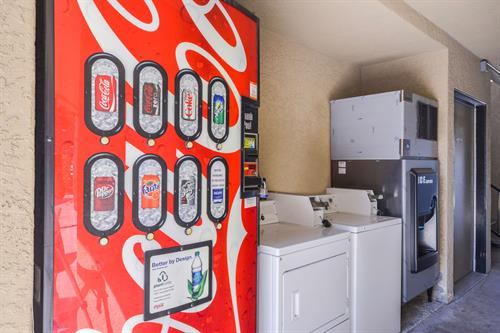Soda Machine, Washer and Dryer for Guest