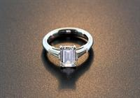 Stunning Emerald Cut Diamond Ring