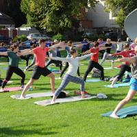 Clock Out & Connect with Yoga in the Park