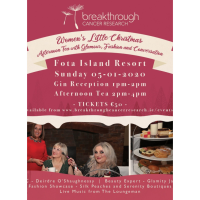Breakthrough Cancer Research Women's Little Christmas Afternoon Tea at Fota Island Resort