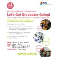 Careers Fair for Smaller Companies, Business Owners MTU 3 June 2021 - Virtual Event