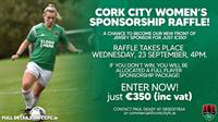 Become Cork City FC Women's Team Sponsor for only €350