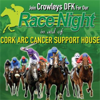 Crowleys DFK's Virtual Race Night Fundraiser raises over €6,600 for Cork ARC