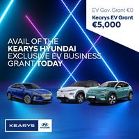 €5000 savings with Kearys Hyundai on nearly new electric vehciles PLUS an additional €250 discount for Chamber members