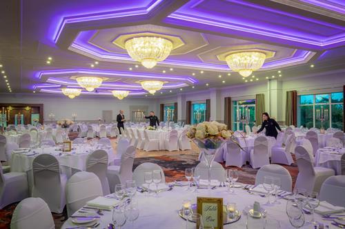 Ballroom set for Gala