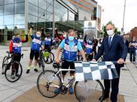 An Taoiseach greets Cork ICU staff after ICU 4 U Charity Cycle