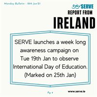 SERVE launch #InternationalDayofEducation awareness campaign