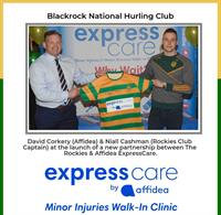 ExpressCare by Affidea Minor Injury Clinic sponsors Blackrock National Hurling Club