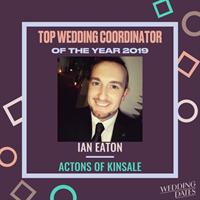WeddingDates announces 2019 Award Winners - Ian Eaton of Actons Hotel Kinsale named Top Wedding Coordinator!