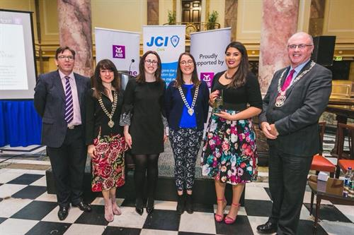 Winning Humanitarian of the Year JCI 2018