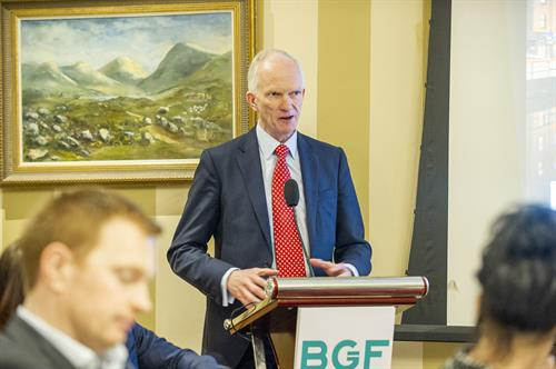 Stephen Welton, CEO of BGF, at Cork Office Launch in Hayfield Manor Hotel.