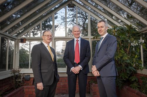 ISIF director Eugene O'Callaghan at BGF Cork Office Launch with Stephen Welton, CEO & Leo Casey, Head of Rep of Ireland