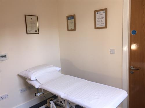 Clean, professional and well equipped clinic rooms.