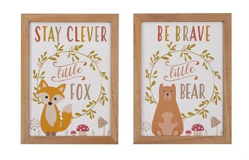 Bear and Fox signs
