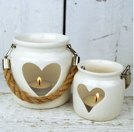 Heart Tealight Lanterns