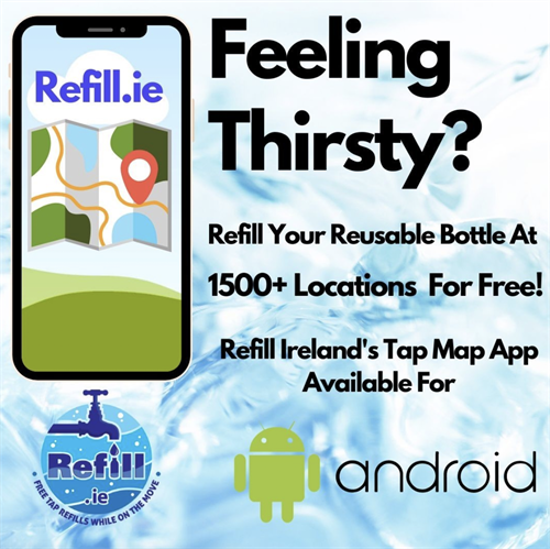 Find free access to drinking water when outside of home.