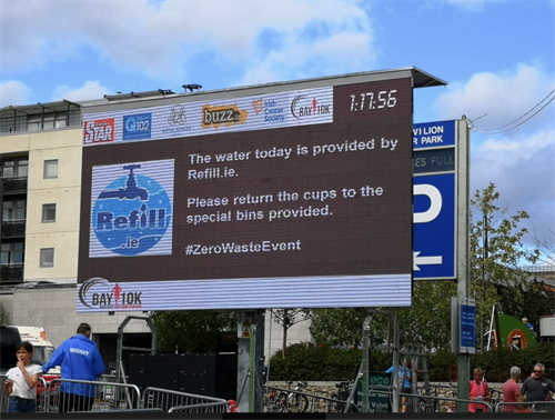 Refill.ie hosting a zero-waste event.