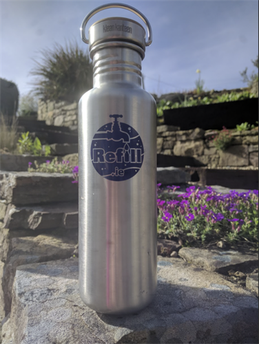 Refill.ie Stainless Steel reusable bottles - Request your company logo & colours.