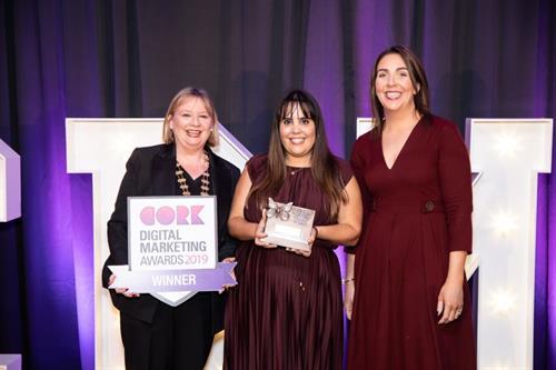 Winner Best E-Commerce Website (<50 employees) - Cork Digital Marketing Awards 2019