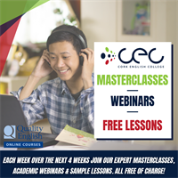 Cork English College launch new Exam Masterclass, Academic Webinar & Sample lesson series