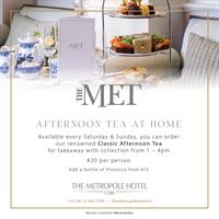 Afternoon Tea at Home from The Metropole Hotel Cork