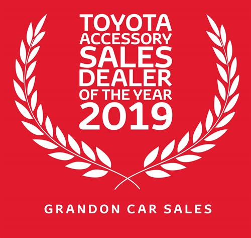 Toyota Accessory Dealer of the Year 2019 - Grandons Toyota Cork