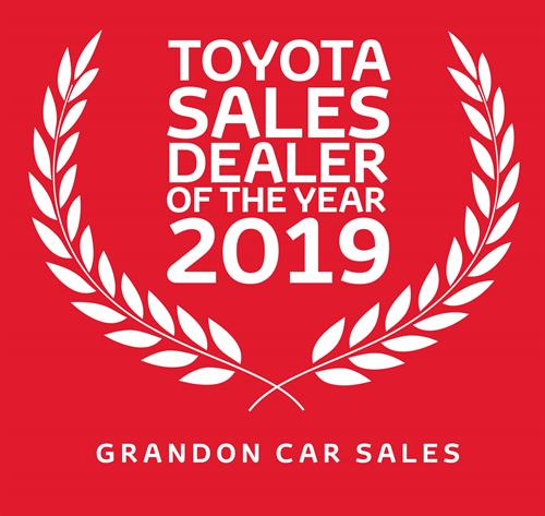 Toyota Sales Dealer of the Year 2019 - Grandons Toyota Cork