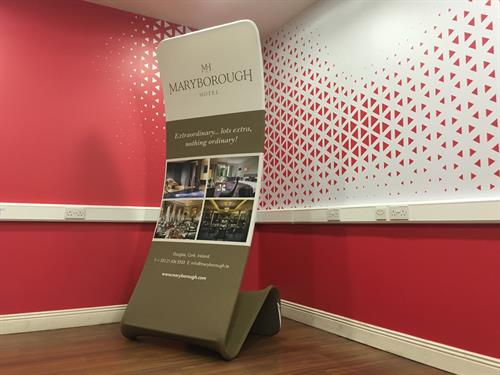 The Maryborough Hotel Vertical Fabric Display