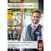 Cork International Hotel Re-Opening 13th July