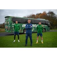 Aircoach's iconic blue bus turns green as FAI & Aircoach Announce Partnership
