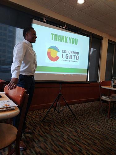LGBTQ Chamber Breakfast presentation; Apr 2019