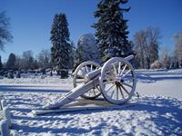 Civil War Cannon in Winter, Block 40