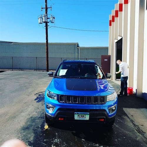 My favorite car of the year #jeepclub SMURF BLUE