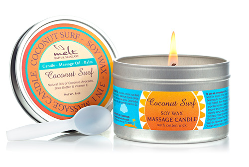 Coconut Surf Massage Candle