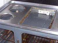 An oven in need of cleaning
