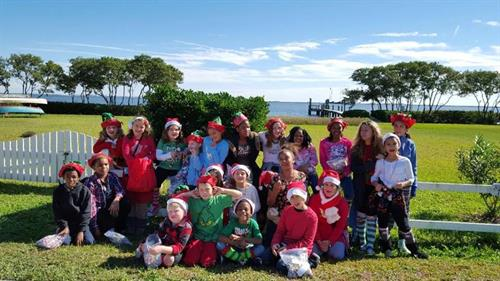 Our youth participating in the Safety Harbor Holiday Parade