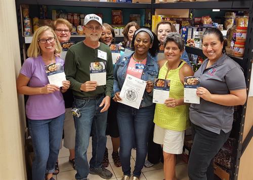 Our Food Pantry is staffed by wonderful volunteers