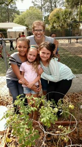 Kids learning to garden during Summer Camp