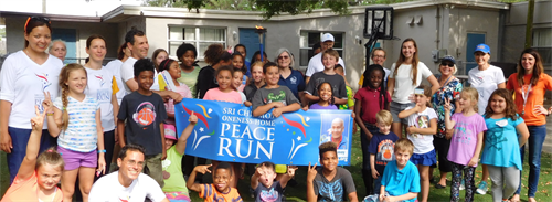 Peace Run made a stop at the Center