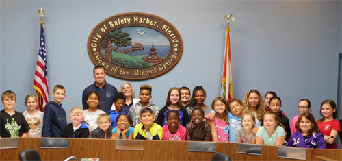 Our Kids attended a Youth Citizens Academy at Safety Harbor City Hall