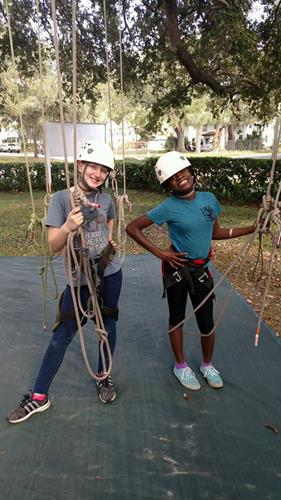 Our Summer Camp participants got lessons in tree climbing