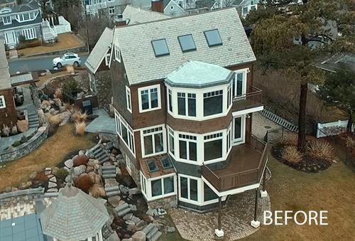Architectural Drone Photography BEFORE Marblehead MA, Client Monaco-Johnson Company