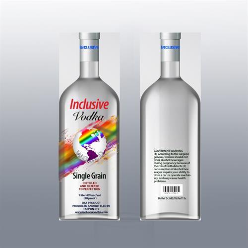 Logo-bottle design for Inclusive Vodka, new product, FL