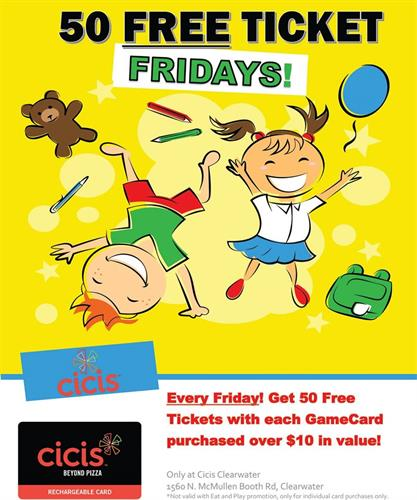 50 Free Ticket Fridays!