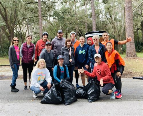 Giving back to the community during one of our Pinellas Trail clean ups
