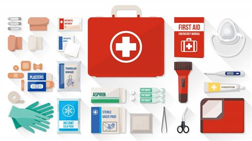 Free monthly first aid kits to all our Rx patients