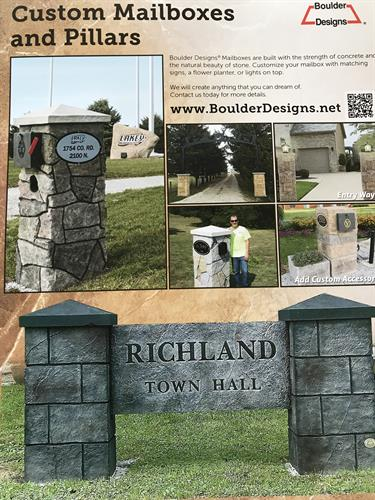 Custom Mailboxes and Pillars