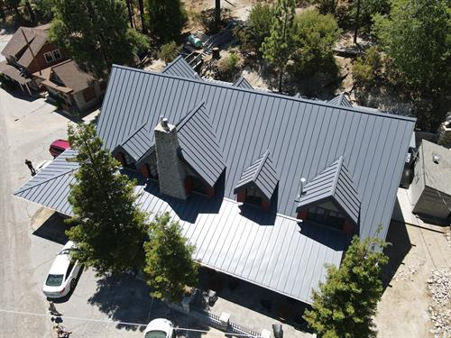 This hotel wanted a standing seam metal roof with copper gutters to compliment it.  We think it turned out amazing!